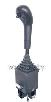 Джойстик двухкоординатный с кнопкой электроуправления (под два троса)