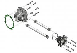 КОМ с валом и адаптером для КПП SCANIA GR 875; GR 895; GR 905; GRS 895; GRS 905; GRSO 905; GRSO 925; GRSO 935